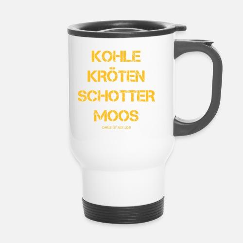 Kohle Kroten Schotter Moos Geld Thermobecher Spreadshirt