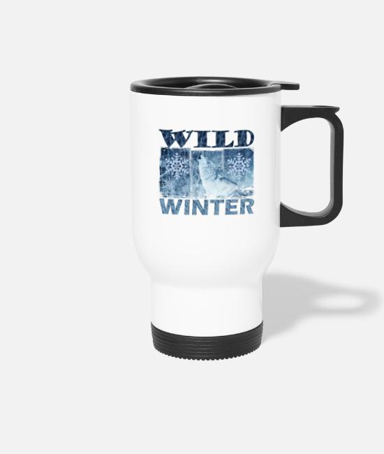 Winter Mugs & Drinkware - winter - Travel Mug white