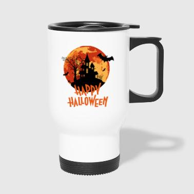 Bloodmoon Haunted House Halloween design - Travel Mug
