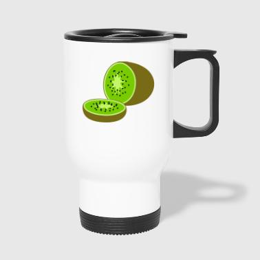kiwi fruits fruit fruit fruit veggie vegetarian - Travel Mug