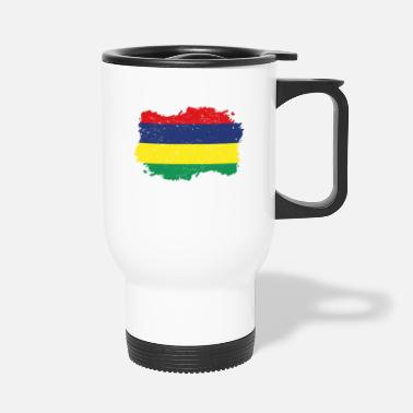 Mauritius Roots roots flag homeland country Mauritius png - Travel Mug