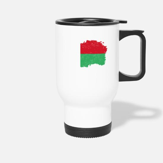 Love Mugs & Drinkware - Roots roots flag homeland country Madagascar png - Travel Mug white