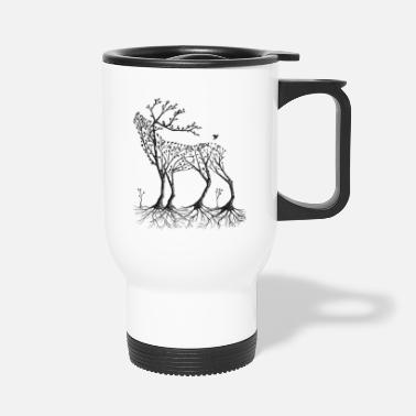 Forest Forest deer in black - Travel Mug