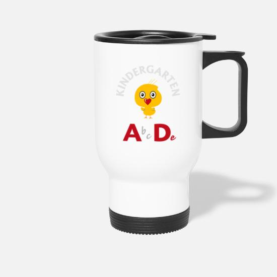 School Beginner Mugs & Drinkware - Kindergarten A bcDe - Travel Mug white