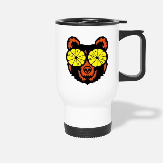 Eye Mugs & Drinkware - Bear eye drawing lemon drawing - Travel Mug white
