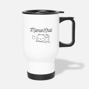 Cat mom - Travel Mug
