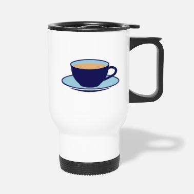Saucer A teacup with a saucer  - Travel Mug