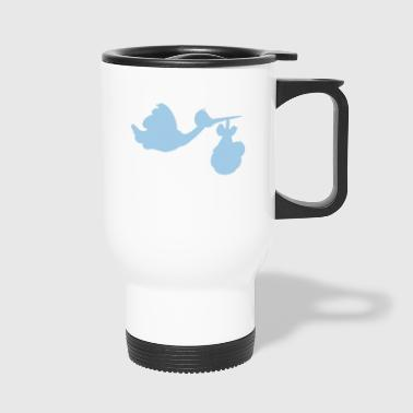 Stork with baby - Travel Mug
