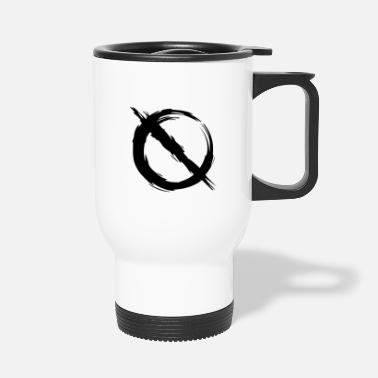Prohibited Prohibition prohibited mirror inverted - Travel Mug