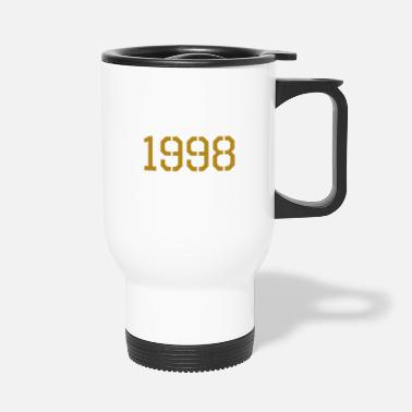 Production Year 1998 year of production gold - Travel Mug
