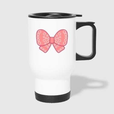 Noeud girly très fille rose - Mug thermos