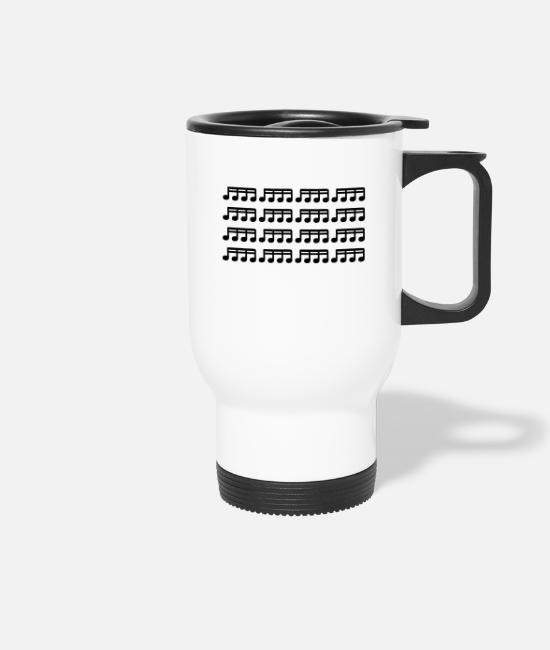 Guitar Mugs & Drinkware - 16th notes - Travel Mug white