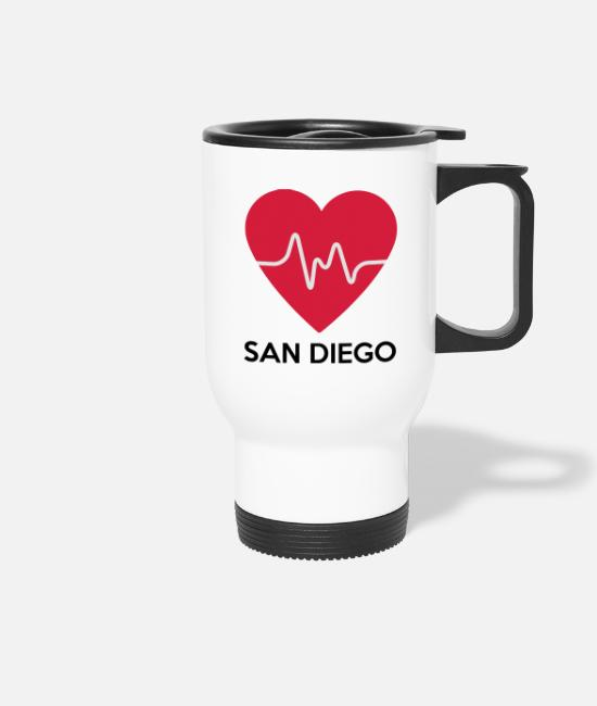 Tourism Mugs & Drinkware - Heart San Diego - Travel Mug white