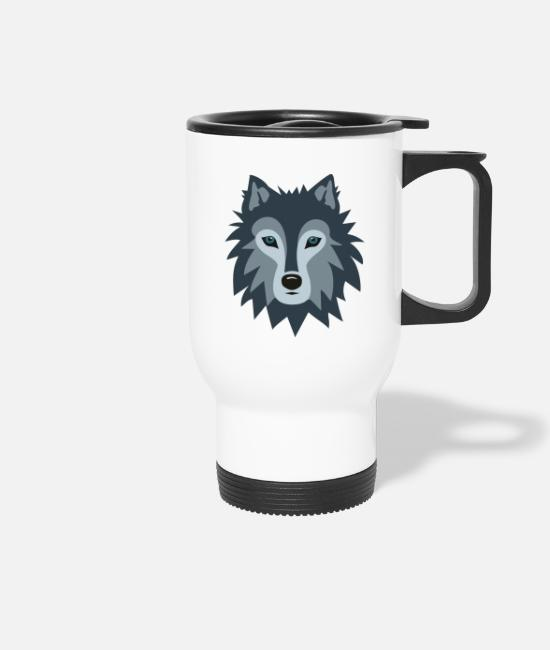 Stag Mugs & Drinkware - Wolf - Travel Mug white