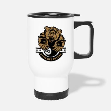 Offensive billiards bear offensive logo - Travel Mug