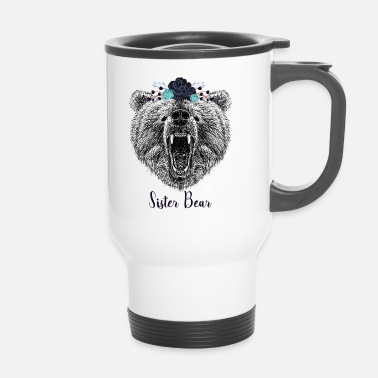 Cool syster björn Wild Grizzly Bear Funny Gifts - Termosmugg