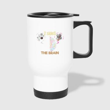Sides of the Brain scientifically artistic - Travel Mug
