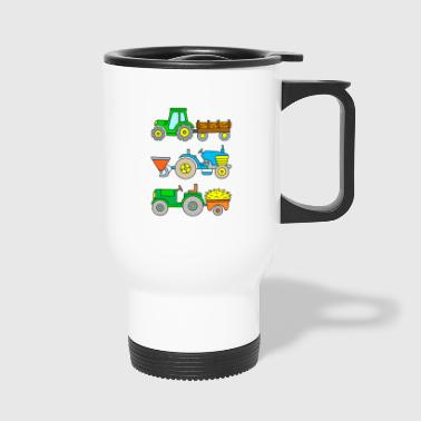 Tracteurs: transport de bois, semoir, transport - Mug thermos