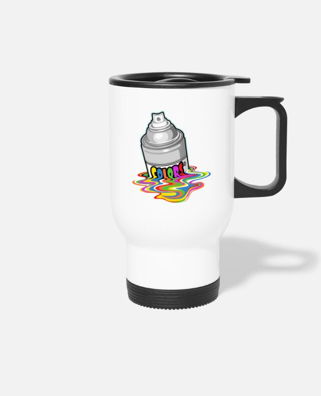 Graffitis Mugs & Drinkware - Melting spray - Travel Mug white