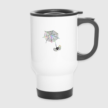 Web Spider with web - Travel Mug