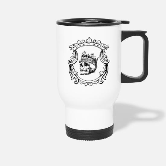 Rock Mugs & Drinkware - Skull with crown - Travel Mug white