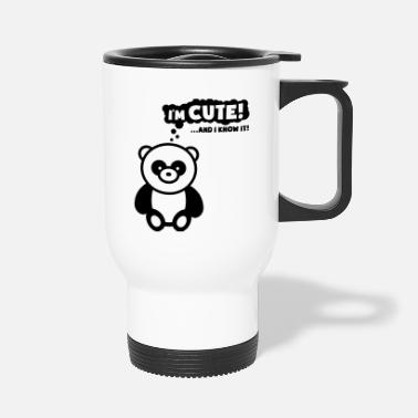 Panda panda_im_cute_know_rp1 - Travel Mug