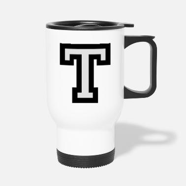 Start Letter T two-color - Travel Mug