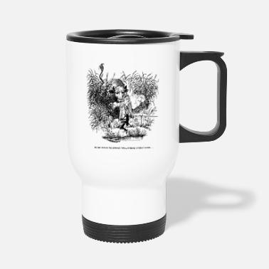 Thelwell Compleat Tangler Cartoon Fishing Alone - Taza termo