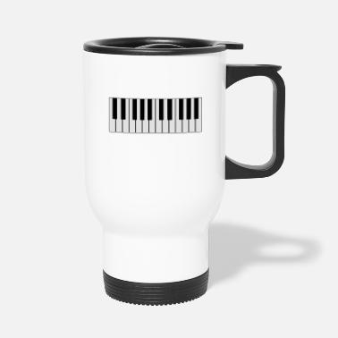Piano white piano piano - Travel Mug