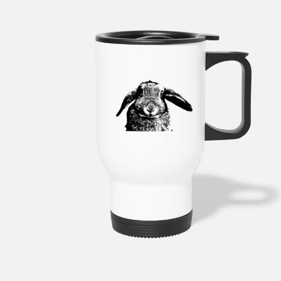 Easter Mugs & Drinkware - Rabbit with ears of ears floppy ear - Travel Mug white