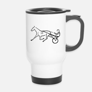 Trot Trotting horse - Travel Mug