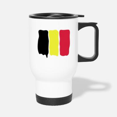Belgian_flag_runny_paint - Thermobecher