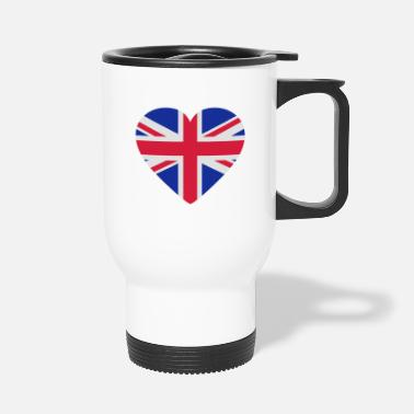 Shape Underwear Heart Britain - Travel Mug