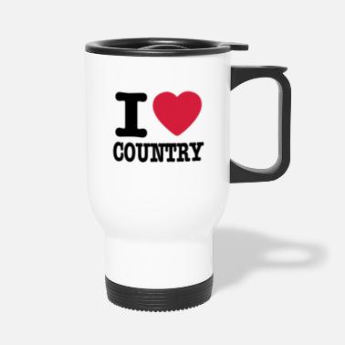 Country i love country / i heart country - Tazza termica