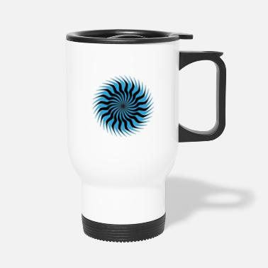 Tribal Tattoo picture sun abstract - Travel Mug