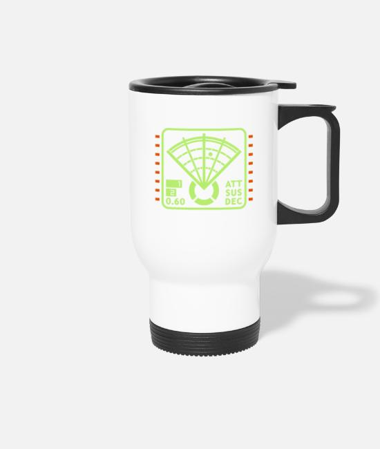 Video Game Mugs & Drinkware - Motion Tracker Display - Travel Mug white