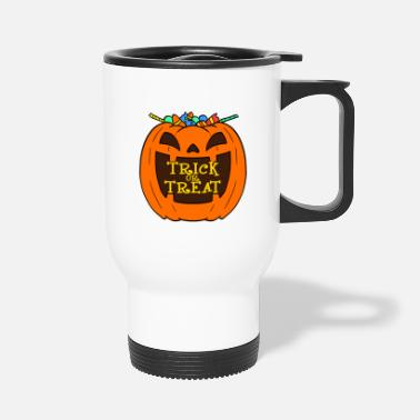 Zombie Ghosts Halloween Trick Or Treat Pumpkin - Travel Mug