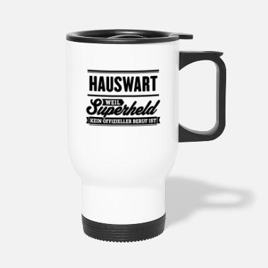Superheld Hauswart - Thermobecher
