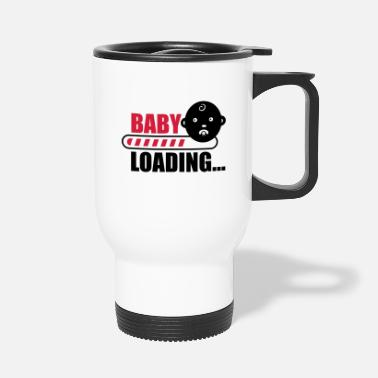 Funny Pregnancy baby loading - funny pregnancy - Travel Mug