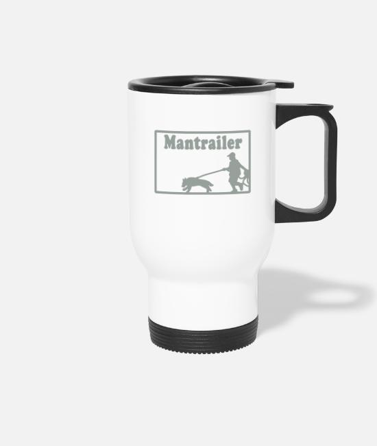 Training Mugs & Drinkware - mantrailer_motiv - Travel Mug white