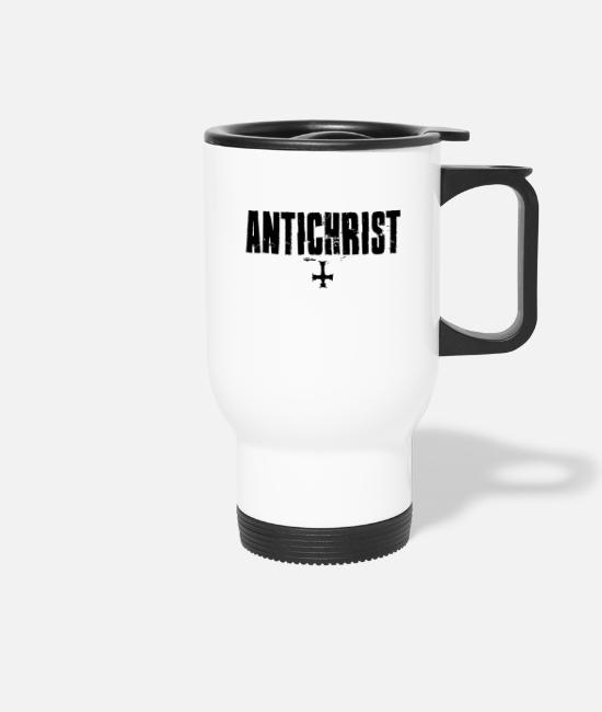 Lucifer Mugs & Drinkware - Antichrist Lucifer 666 - Travel Mug white
