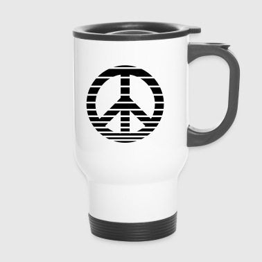 Peace Symbol gestreift - Thermobecher