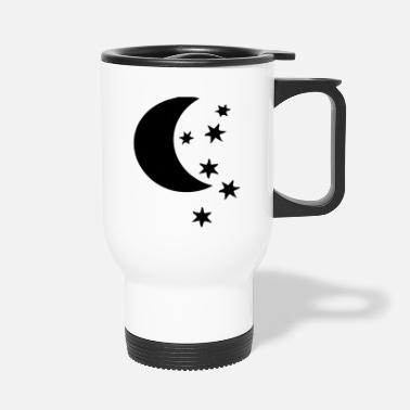 Half Moon half moon and stars - Travel Mug