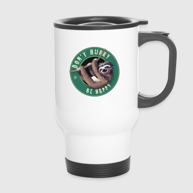 Starbucks Sloth Bouton d'amusement paresseux Humour LOL froid - Mug thermos