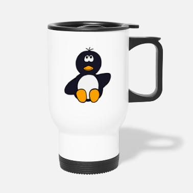 Sit Sitting Penguin - Travel Mug