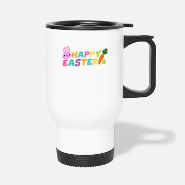 Easter Happy Easter With Egg Carrot & Bunny Pascha - Travel Mug
