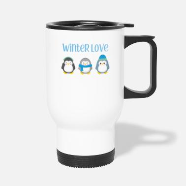 Winter Penguin - Winter - Gift - Sweet - Penguins - Travel Mug