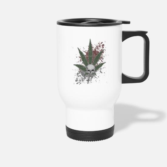 Thc Tassen & Becher - Stoned Jolly Roger - Thermobecher Weiß