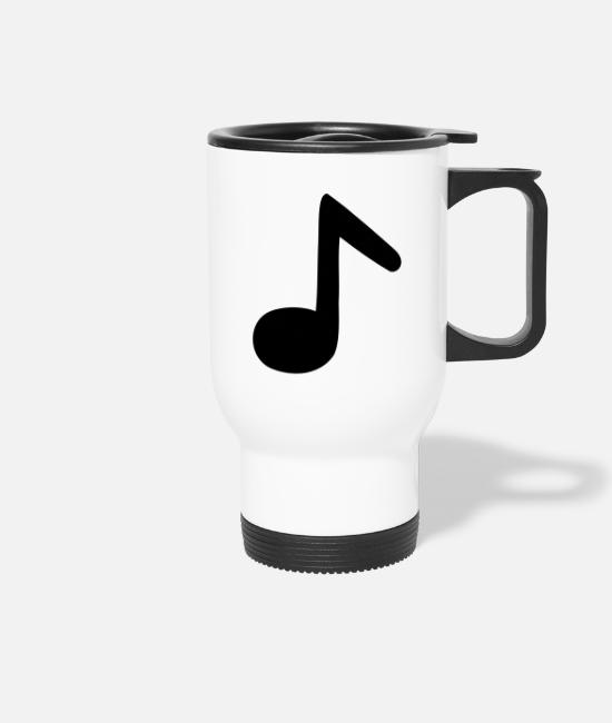 Guitar Mugs & Drinkware - eighth note - Travel Mug white
