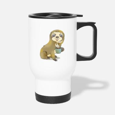 Paresse avec café cadeau Cartoon Kawaii - Mug isotherme